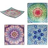 Sigris - Plato x4 Colores Cristal 24 cm