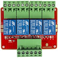 SunFounder 4-Channel DC5V Relay Module with Optocoupler