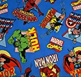 Fat Quarter Marvel Comic, Toss, Baumwolle, 51228 Federn