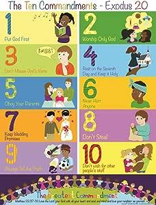 Biblische Erzählung, Die zehn Gebote, Poster für Kinder