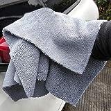 Detailers United - Asciugamano Professionale in Microfibra, Senza Bordi e Doppio Uso, per lucidatura, Asciugatura, ceratura, Pulizia, 40 x 40 cm