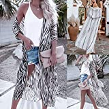 Lailailaily Womens Summe Swimsuit Cover up Beach Long Kimono Bathing Suit Print Cardigan