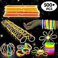 Pack de 544 Varitas Palos Luminosas - Ideales para Fiestas, Juguetes de Piñatas, Premios, Navidad, Año Kit para Crear Gafas, Mariposas, Pulseras, Barra Luminosa, Bolas Luminosas. de Bramble