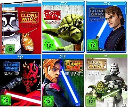 Blu-ray Set * Star Wars - The Clone Wars - Season/Staffel 1+2+3+4+5+6 (1-6)