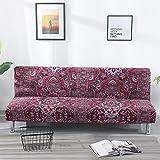 ele ELEOPTION Sofa Überwurf Elastisch Sofahusse 3 sitzer Sofabezug Stretch Schlafsofa Bezug für Faltbar Sofabett Armless Sessel und die Couch Ohne armlehne (Stil 6)