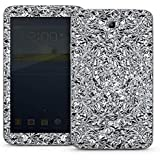 Samsung Galaxy Tab 3 7.0 7.0 Autocollant Protection Film Design Sticker Skin Paillettes Argent Brillance