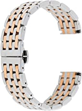 Phenovo Quick Release Stainless Steel Link Bracelet Watch Bands Strap With Spring Bars