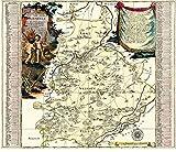 Historische Karte: Amt Weißenfels 1757: Accurate Geographische Delineation des Hochf. Sachß. Amtes Weissenfels. Nebst