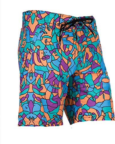 Tshotsh - Boardshort Hybrid / Short De Bain - Homme Multicolore