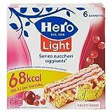 Hero Light Barrette ai Cereali Frutti Rossi   - 10 Confezioni da 6x20 g