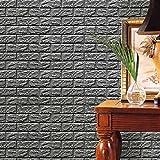 Switchali Moda etiqueta de la pared, 3D espuma PE, creativo vinilo etiqueta, hogar, decoración, papel pintado, DIY, de ladrillo en relieve diseño de piedra de 30 x 30 cm