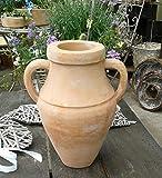Blumentopf Vase 33 cm hoch, echt Terracotta Terrakotta Garten Deko Blumenkübel Pflanztopf Amphore