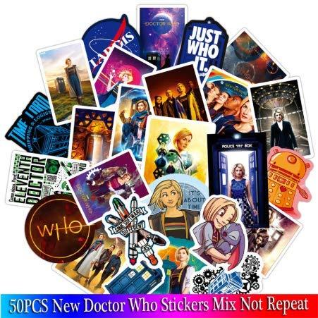 YLGG Neue Doctor Who Aufkleber Sets Anime Aufkleber Lot Für Laptop Fahrrad Telefon Gitarre Marvel Cartoon Aufkleber Pack 50 stücke (Who Dr Aufkleber)