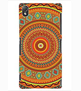 ColourCraft Tribal Pattern Design Back Case Cover for SONY XPERIA Z3
