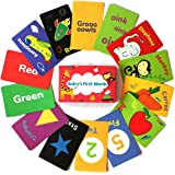 Shumee 40 Double Sided Flashcards (1 Years+) - Learn Colours, Shapes, Animals, Fruits, Vegetables, Transport & More