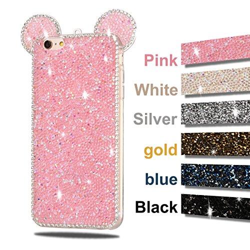 Coque iPhone 6 , TPU Étui iPhone 6S , Mickey Motif Mode Glitter Bling Étui Silicone Souple Housse Caselover Etui Coque TPU Slim pour Apple iPhone 6 / 6S (4.7 pouces) Mode Flexible Souple Soft Gel Pail Rose