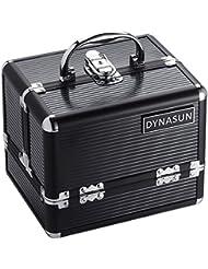 DynaSun Vanity en aluminium avec compartiment maquillage - 22 cm