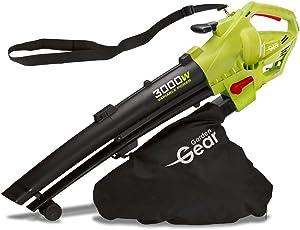 Garden Gear 3000W Laubbläser, Laubsauger & Häcksler, 3 in 1, variable Geschwindigkeit mit großer 45L Kapazität Sammelbeutel, 10: 1 Shredding Ratio, 10m Kabel