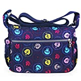 ABLE Waterproof Shoulder Bag Casual Handbag Messenger Crossbody Bags Multi-functional pocket design: can plug flat, book, wallet, etc (4-multicolor)