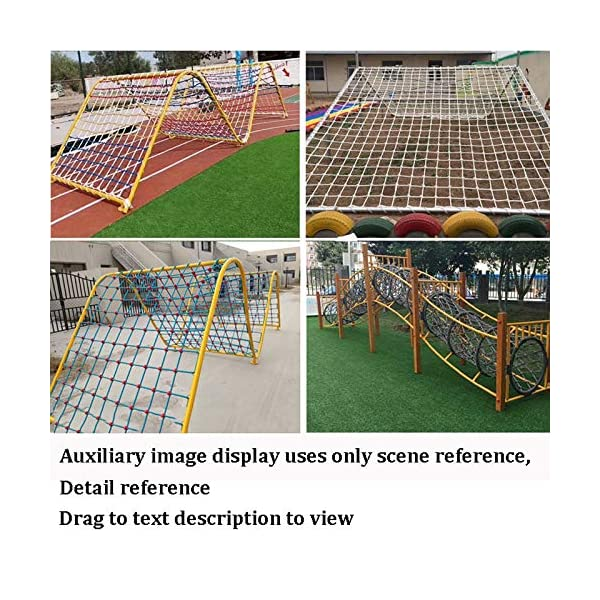 "XXN White Climbing Net,rope Ladder Child Climbing Tree Protection Net Adult Outdoor Swing Ladder Toy Playground Racecourse Fence Nylon Load Fixed,Cargo Rope Ladder Truck Deck Grid Heavy Goods Nets XXN ❤Auxiliary image display uses only scene reference,the main picture color is main.The safety net has a diameter of 14mm(0.55"") and a mesh size of 12cm(4.72""). The mesh edge is strengthened, the mesh is even, the pulling force is strong, the sunscreen, the weatherproof, the firm and the wearable. ❤The rope net is mainly used for climbing, not only for ordinary children and adults, but also for balconies, stairs, pets, children, gymnasiums, playgrounds, gardens, schools or sports clubs, and isolating truck cargo. It prevents objects from falling and ensures the safety of pets, children, etc. ❤Safety Tip: Regularly check the safety net for safety hazards caused by various external or human factors to protect safety. 6"