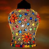 Earthenmetal Handcrafted Mosaic Decorated Glass Hanging Light