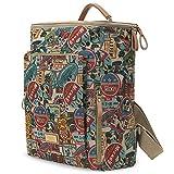 ililily klassischer Stil Multi-purpose Mickey Maus Muster Tagespackung Rucksack Rucksack Tasche