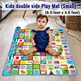 TIED RIBBONS Waterproof Double Side Baby Play Crawl Floor Mat For Kids Picnic Home Picnic (Small Size - 6 Feet X 4 Feet ) with zip bag to carry