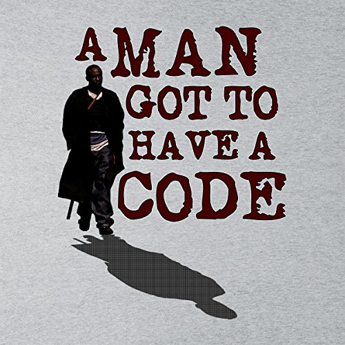 A Man Got To Have Code Omar The Wire Womens Hooded Sweatshirt Heather Grey