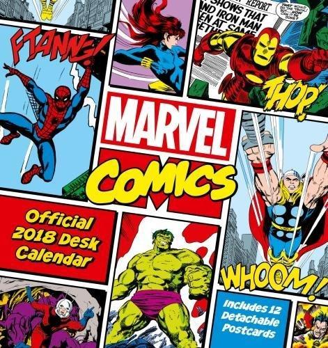 Marvel Comics Official Desk Easel 2018 Calendar - Month To View Desk Format