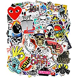 200pcs Autocollant, PAMIYO Sticker voiture vinyle Stickers Retro Stickers