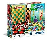 Clementoni 16063 - Dama & Scale e Serpenti, Giochi da Tavolo 2 in 1
