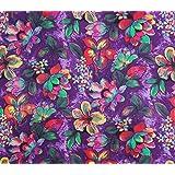 """Confección de algodón púrpura floral tela impresa 42 """"de ancho de costura Por El Metro"""