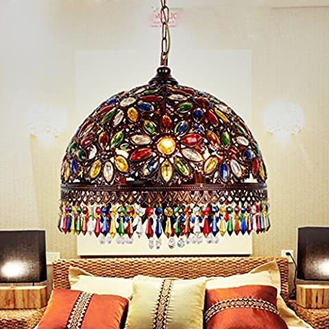Tiffany lamps Bohemian chandeliers Mediterranean American country living room lamp