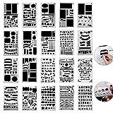 Centtechi Bullet Journal Stencil, 20Pz Plastica Gazzetta Stencil Pittura Disegno DIY Template Set 4 x 7 pollici per Notebook/Diary/Scrapbook Art Progetti Creativi/Calendario Libro by