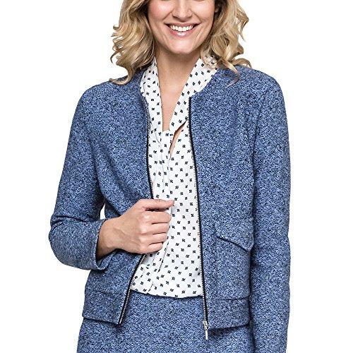 Ennywear 240007 Blazer Dame Langarm Rundhals Reißverschluss Taschen Gefüttert EU, Blau,34 (Große Schwierigkeiten Kostüme)