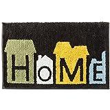 Kreative Alphabet Teppichunterlage Innen und Außen Eingang Fußmatte, Weich Komfortabel Shaggy Rutschfester Saugfähigbadteppich,Anwendbar auf 45 * 65 cm Zu 50 * 80 cm Bereich,Brown,50 * 80Cm