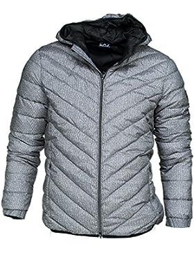 Emporio Armani EA7 cazadoras chaqueta de hombre plumíferos chapucha nuevo gris