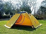 GEERTOP® 2-Personen 4-Jahreszeiten Aluminiumstangen Wasserdichten Camping Kuppelzelt (140 x 210 x 115 cm), Ideal für Camping, Beim Klettern und Jagen -