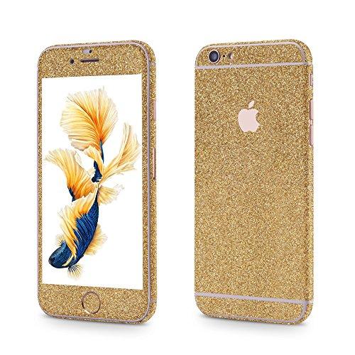 OKCS®Premium Smartphone Sparkle Sticker iPhone 6 / 6s Skin Glitzerfolie Protector Folie Schutzfolie Slim Sticker in Magic Gold