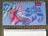 Adressbuch BRUNNEN Telefonbuch Spiral Register 11x19cm Summer bl