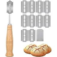 Lame a Pain,Lame boulanger Couteau a pain Bread lame Outil de notation du pain avec 5 Acier Inoxydable Lames,pour Pain…