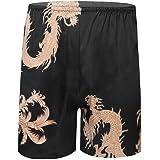 Freebily Men's Boxer Briefs Trunks Underwear Silk Satin Basic Boxers Shorts Underpants