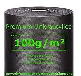 Xabian Anti Unkrautvlies 100g/m² Filtervlies Rolle 50m x 1m = 50m² | Gartenvlies mit hoher UV-Stabilisierung - sehr reißfest und wasserdurchlässig