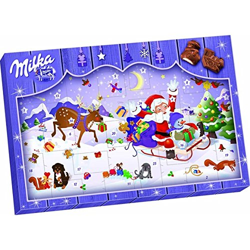 Calendrier de l' avent 2016 en chocolat au lait Milka