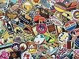 Lot de stickers voyage, souvenirs, pays, retro, vintage, autocollants en vinyl rétro, travel, monde, villes, europe,...