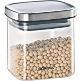 Borosil Classic Sqaure Glass Jar for Kitchen Storage, 600 ml