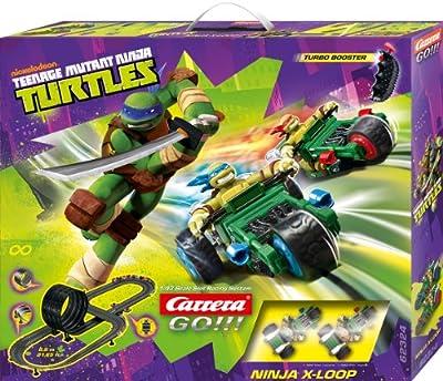 Carrera - Circuito GO 143 Ninja X-Loop (Tortugas Ninja) 6.5 metros, escala 1:43 (20062324) por Carrera