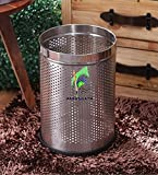 Karma Open Perforated Dustbin 7x10 Stainless Steel