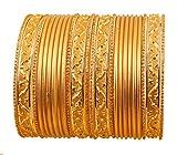 Touchstone - Juego de 24 Pulseras de aleación de Metal, diseño Indio de 2 docenas de Colores Dorados, tamaño Grande, Color Dorado Envejecido para Mujer