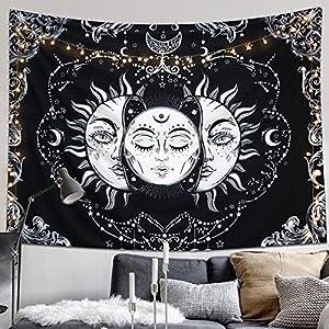Wandteppich Mandala Schwarz Weiß Deine Wohnideen De